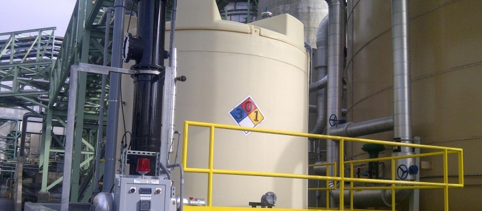Completed HCl Tank at Dickerson Station