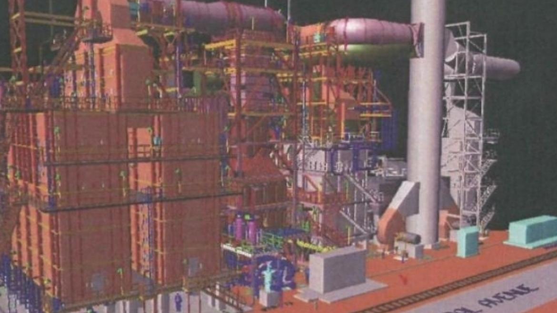 Bayway Vacuum Furnace/SCR Model Shot
